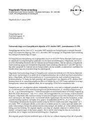 SFL's svar af 5. januar 2008 på Energitilsynets bemærkninger