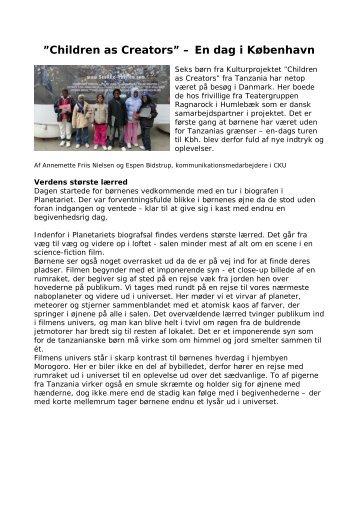 Children as Creators - Center for Kultur og Udvikling