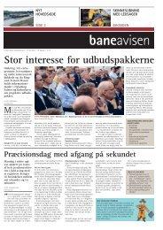 Stor interesse for udbudspakkerne - Banedanmark