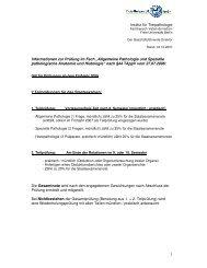 1 Institut für Tierpathologie Informationen zur Prüfung im Fach ...