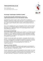 PRESSEMEDDELELSE - Dansk Ungdoms Fællesråd