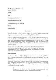 1 Den 28. februar 2011 blev der i sag nr. 3/2009 ... - Revisornævnet