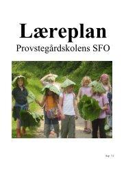 Læreplan for SFO - Provstegårdskolen