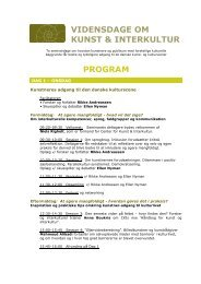 Program - Center for Kunst & Interkultur
