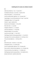 Udstillingsliste for atelier1.dk v/Maiken Hejnfelt
