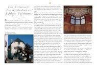 \W Ein Kuriosum: das Alphabet auf Schloss Velthurns - EmScuola