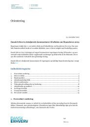 Aftale om Finanslov for 2013. - Dansk Erhverv