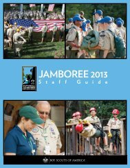 Jamboree 2013 Staff Guide - The Summit - Boy Scouts of America