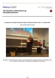En klassiker reaktualiseret og rekontekstualiseret - Holberg