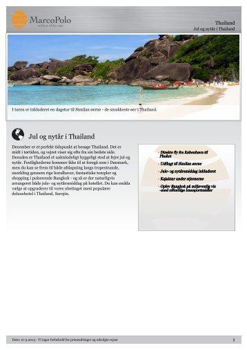 Jul og nytår i Thailand - MarcoPolo