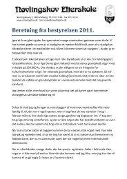 Beretning fra bestyrelsen 2011.