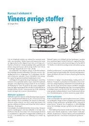 Vinens øvrige stoffer - Vinometric