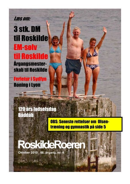Læs Roeren fra oktober 2010 - Roskilde Roklub