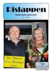 Rislappen 2012 nr. 3 - Risvollan Borettslag