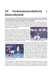 Til Verdensmesterskaberne i Skolevolleyball - Djurslands Efterskole