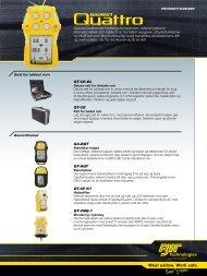 Wear yellow. Work safe. - GasAlertQuattro