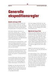 Kapitel 5 – Generelle ekspeditionsregler (pdf - 60Kb) - Fiskericirklen