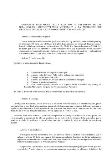 16. Instalaciones lúdico-deportivas municipales y la prestación del ...