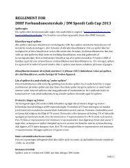 REGLEMENT FOR DHIF Forbundsmesterskab / DM Speedi Cath Cup 2013