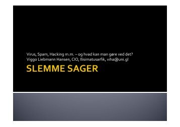 Slemme sager. - Viggo Liebmann Hansen
