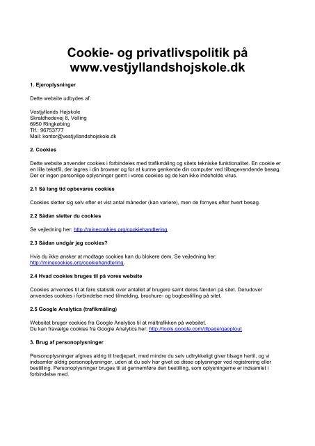 Cookie - Vestjyllands Højskole