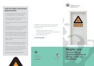 Regler om opbevaring og tyverianmeldelse af giftige ... - Miljøstyrelsen