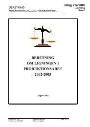 beretning om ligningen i produktionsåret 2002-2003 - Ringsted ...