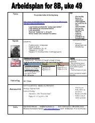 Tema Norsk Engelsk Naturfag Matematikk Info - Linksidene