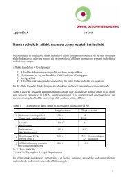 Dansk radioaktivt affald: mængder, typer og aktivitetsindhold ...