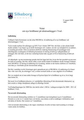 Notat om nye boldbaner i Voel - Silkeborg Kommune