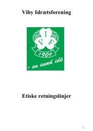 Viby IF's etiske retningslinjer af 2010. - Viby Idrætsforening