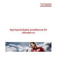 Sportspsykologisk grundkursus for eliteudøvere - Team Danmark