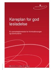 Køreplan for god løsladelse - Kriminalforsorgen