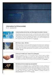 Information nov 2011 nr. 21 - Horsens Erhvervsråd