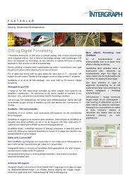 GIS og Digital Forvaltning - Intergraph