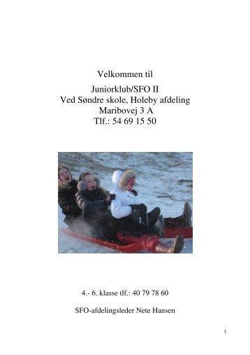 Folder: Velkommen til SFO2 - Holeby Skole