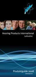 Produktguide 2008 - Hearing Products International