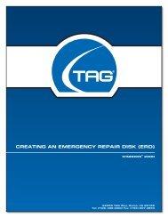Creating an emergenCy repair disk (erd) - TAG.com