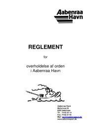 Se reglement for overholdelse af orden i Aabenraa Havn her