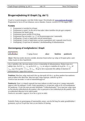 Brugervejledning Graph - Steen Toft Jørgensen