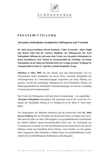 Alexandra Schörghuber komplettiert Stiftungsrat und Vorstand - Die ...