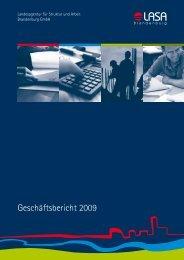 LASA-Geschäftsbericht für das Jahr 2009 (PDF)