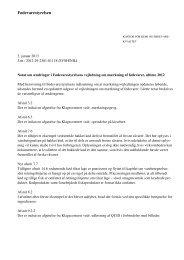 Notat om ændringer af mærkningsvejledningen 2013