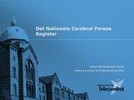Det Nationale Cerebral Parese Register - Statens Institut for ...