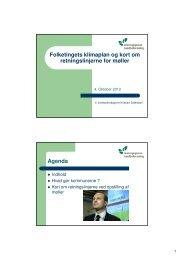 Folketingets klimaplan og kort om retningslinjerne for møller - Noatun