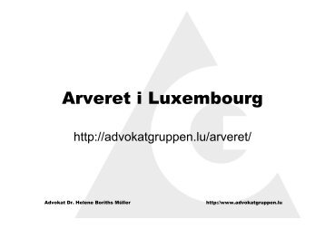 Arveret i Luxembourg - Advokatgruppen Luxembourg