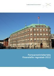 Forsvarsministeriets finansielle regnskab 2012