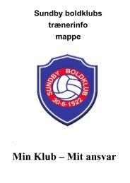 Min Klub – Mit ansvar - Sundby Boldklub