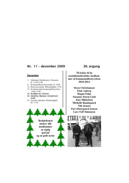 S Posten december 2009 - Socialdemokraterne Albertslund