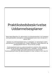Praktikstedsbeskrivelse Uddannelsesplaner - Struer Kommune